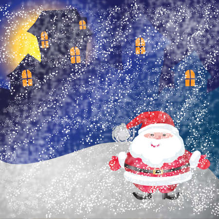 Santa of frame on christmasday Stock Photo - 16454266