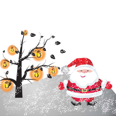 Santa of frame on christmasday Stock Photo - 16454229