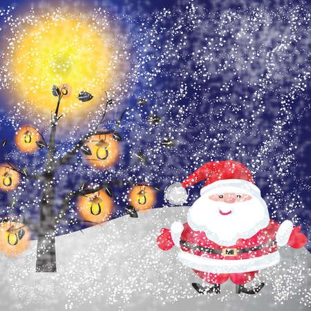 Santa of frame on christmasday Stock Photo - 16454264