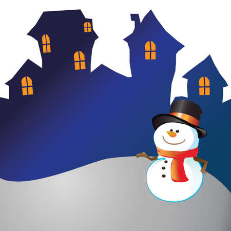 Snowman of frame on christmas day Stock Photo - 16454215
