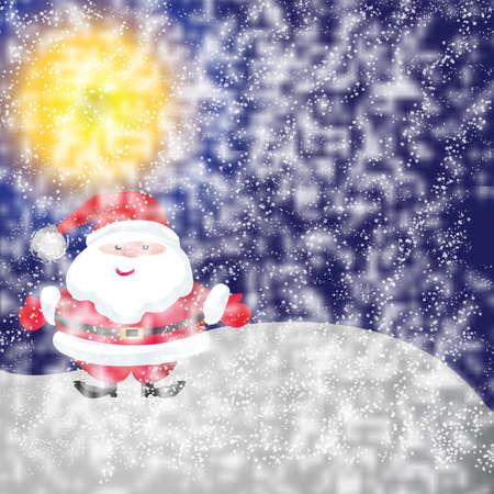 Santa van het frame op een witte achtergrond Stockfoto