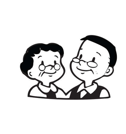 mujer feliz fondo blanco: Feliz pareja de edad de marco sobre fondo blanco