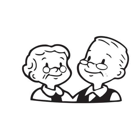 hombres maduros: Feliz pareja de edad de marco sobre fondo blanco