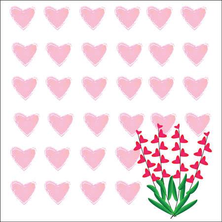 Heart of frame on white background Stock Vector - 17338572