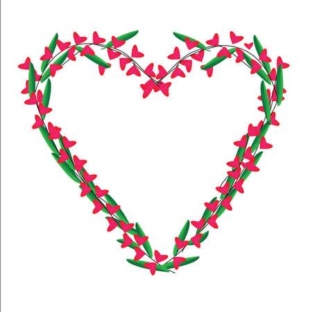 Heart of frame on white background Stock Vector - 17338568