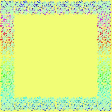 Flower frame van het frame op de achtergrond