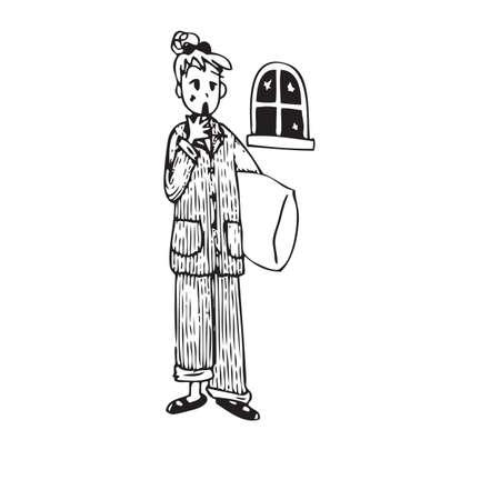 Girl of frame in bedtime Stock Vector - 17494567