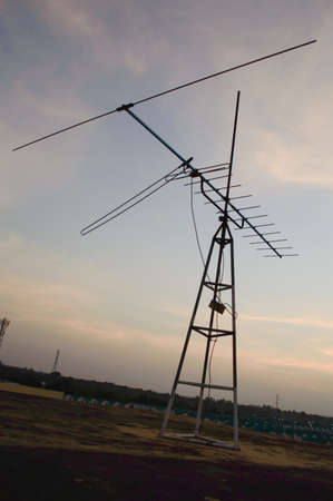 TV antennas of frame on sky background Stock Photo - 17455797