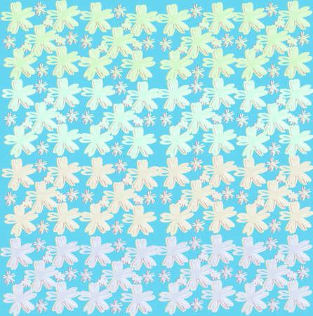 Flower wallpaper of frame on background Stockfoto