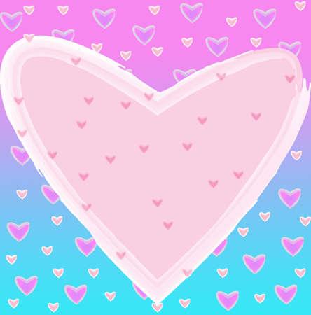 Heart of frame on background