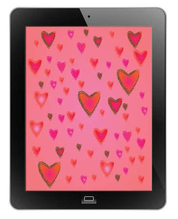 adapt: Heart of frame on tablet Illustration