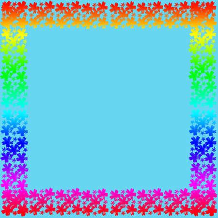 Flower frame of frame on background