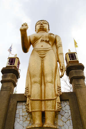Statue of buddha in bodh gaya photo