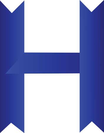 ribbin: Ribbin font of frame Stock Photo