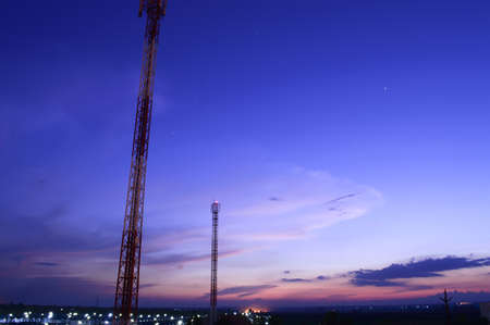 Landscape of frame on evening light Stock Photo - 20058874