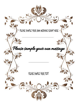 Vector vintage frame on background Vector