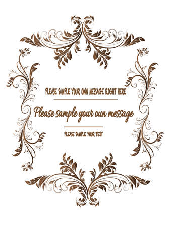 Vector vintage frame on background Illustration
