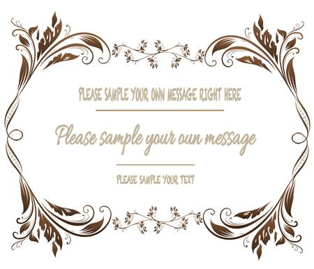 Vector vintage frame on background Ilustracja