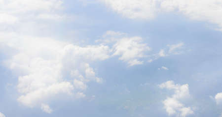 Blank sky surface with small clouds photo