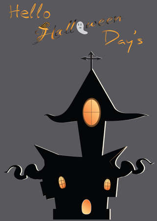Halloween Scenery  Vector