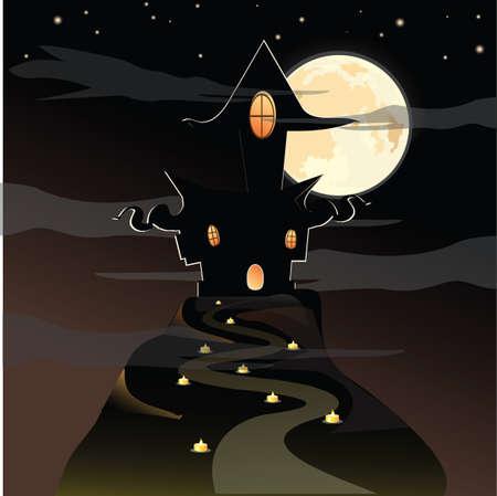 Eng huis - Halloween achtergrond