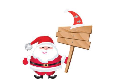 Santa on white background Vector
