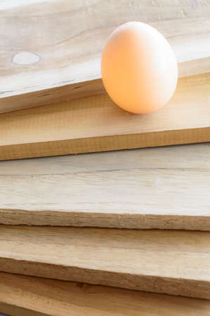 eggs on wood background