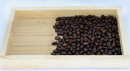 coffee beans on white background. Stock Photo