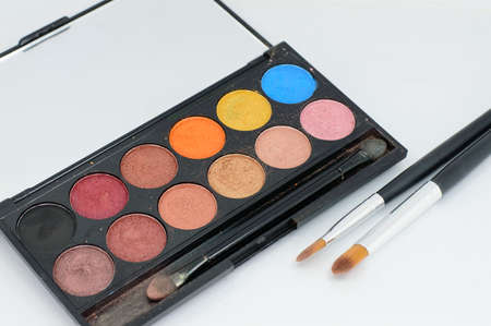 colorful cosmetic eyeshadow palette makeup set
