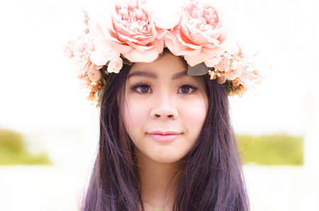 Lady have flower crown
