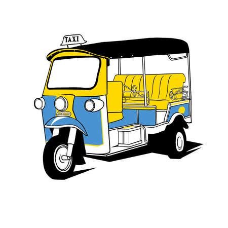 illustrates: tuktuk taxi thailand  Illustration