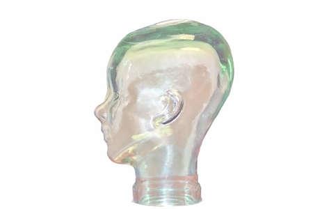 Glass Head Left Фото со стока
