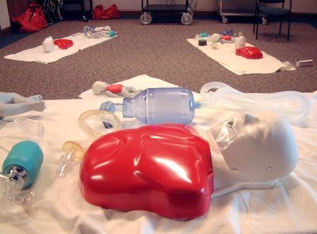 ems: CPR Training Stock Photo