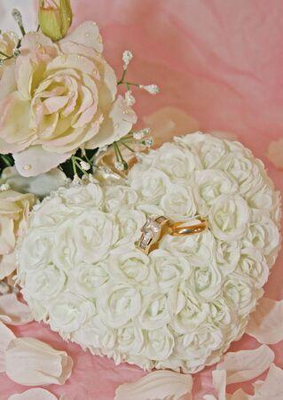 diamond rings: Wedding Brochure Background Stock Photo
