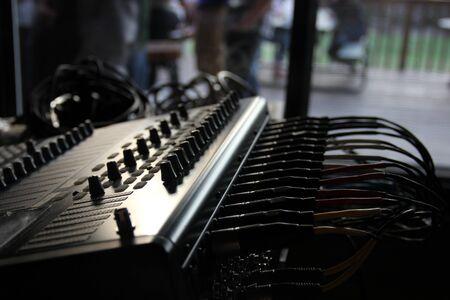 Sound board in shadow