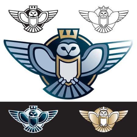 Owl logo outline vector Stock Vector - 109222114