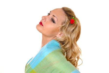 Anmutige M�dchen mit Erdbeere Haar