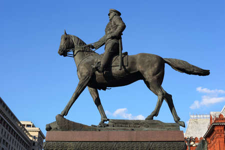 Georgy Zhukov. Monument on Red Square in Moscow. Stock Photo - 10419169