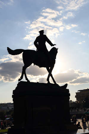 Georgy Zhukov monument on Red Square in Moscow Stock Photo - 10419167