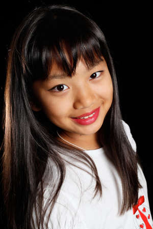 A smiling little girl Korean Stock Photo
