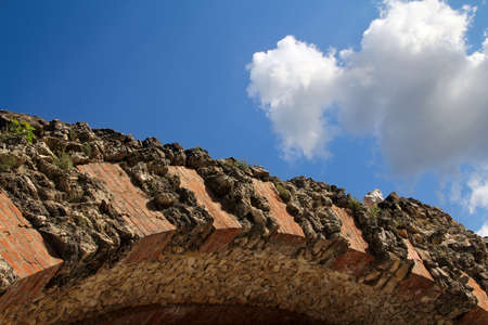 Kremlin arch of brick and stone. Russia. Stock Photo