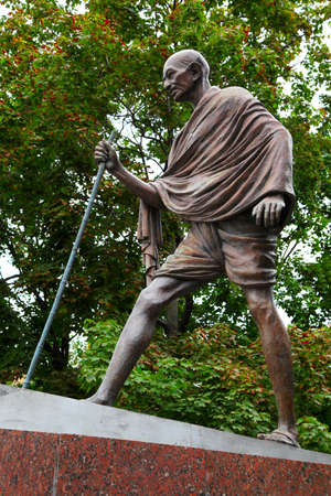 Mahatma Gandhi  The monument in Moscow, Russia Stock Photo - 14858054