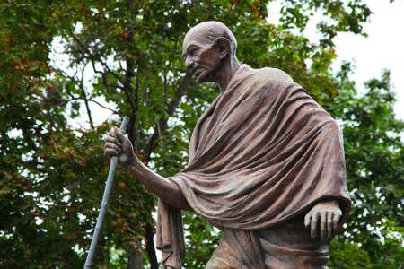 Mahatma Gandhi Das Denkmal in Moskau, Russland