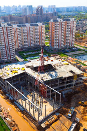 The construction of the building in the economically developed part of the city  photo