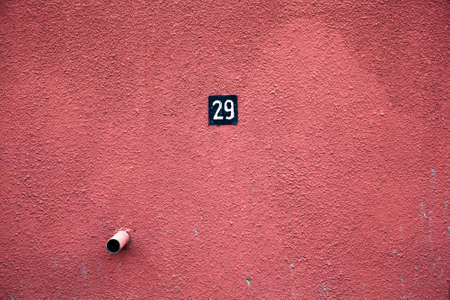 rough textured wall is red  Parking space No  29