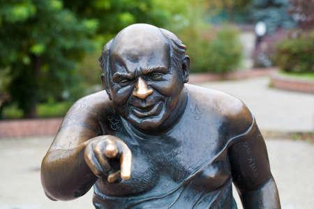 Monument Schauspieler Jewgeni Leonow Russland, Moskau, Mosfilmovskaya Stra�e