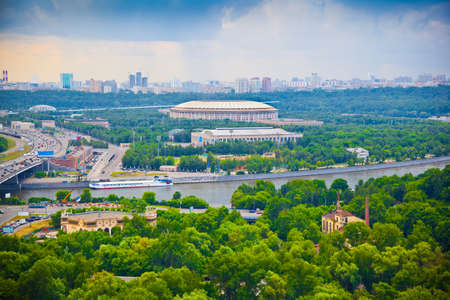 City of Moscow. Moscow River, Luzhniki sports complex