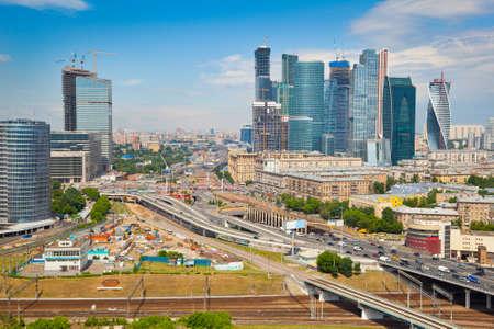 Auf Moskau und Gesch�ftszentrum Moscow City