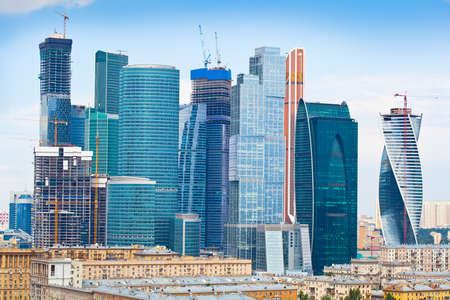 Ansicht der Wolkenkratzer International Business Center, Moskau, Russland