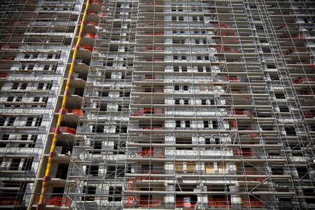 Close up eines neuen �ffentlichen Wohnhaus